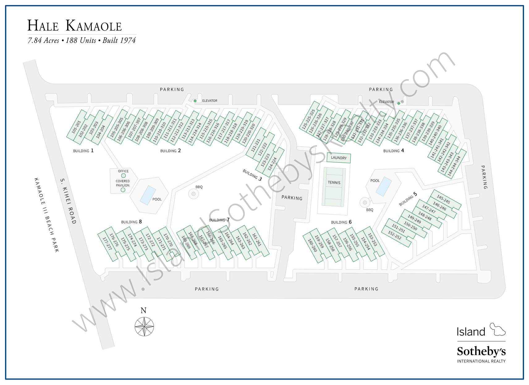 Map of Hale Kamaole Maui