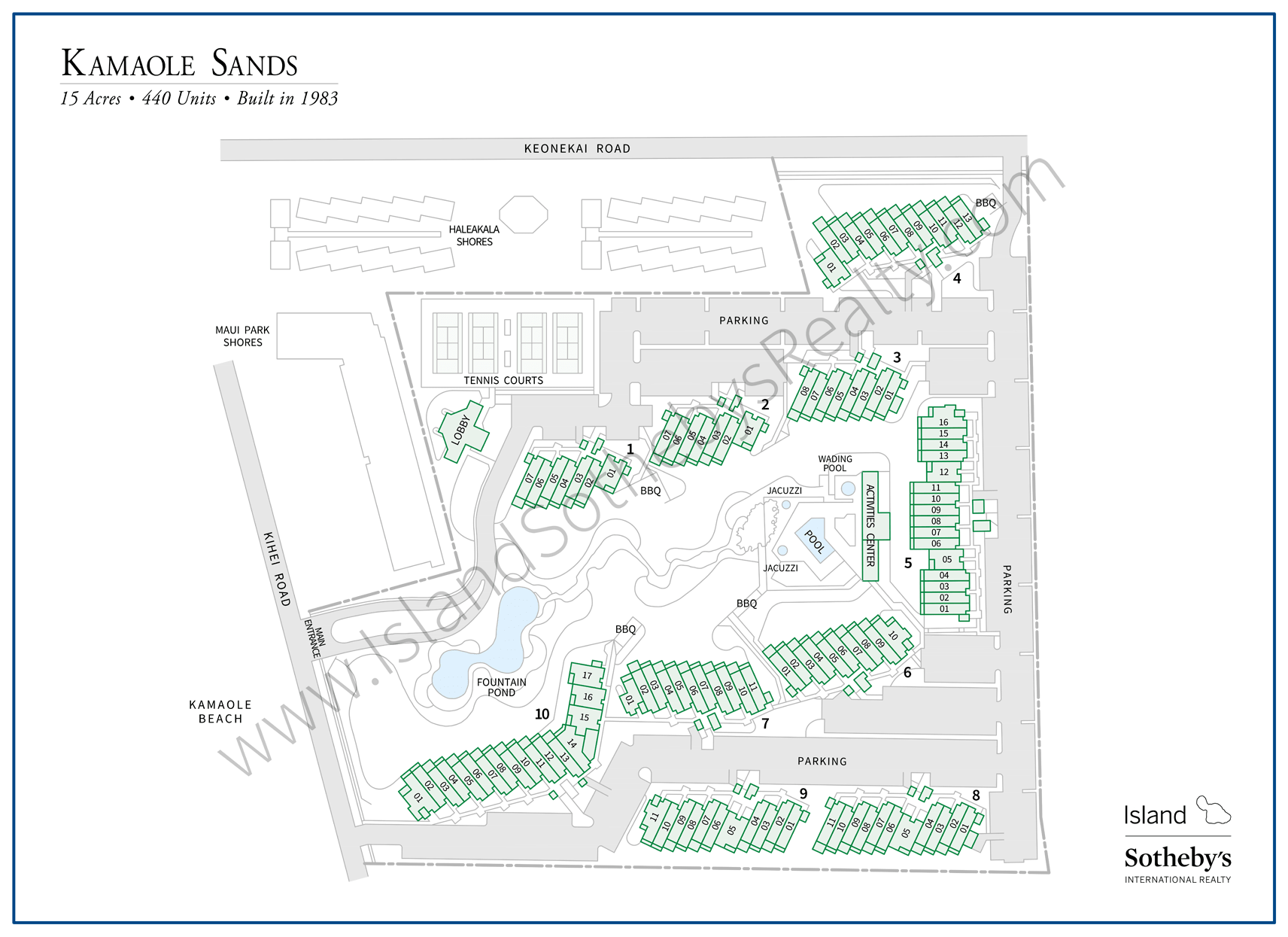 Map of Kamaole Sands Condominium Maui