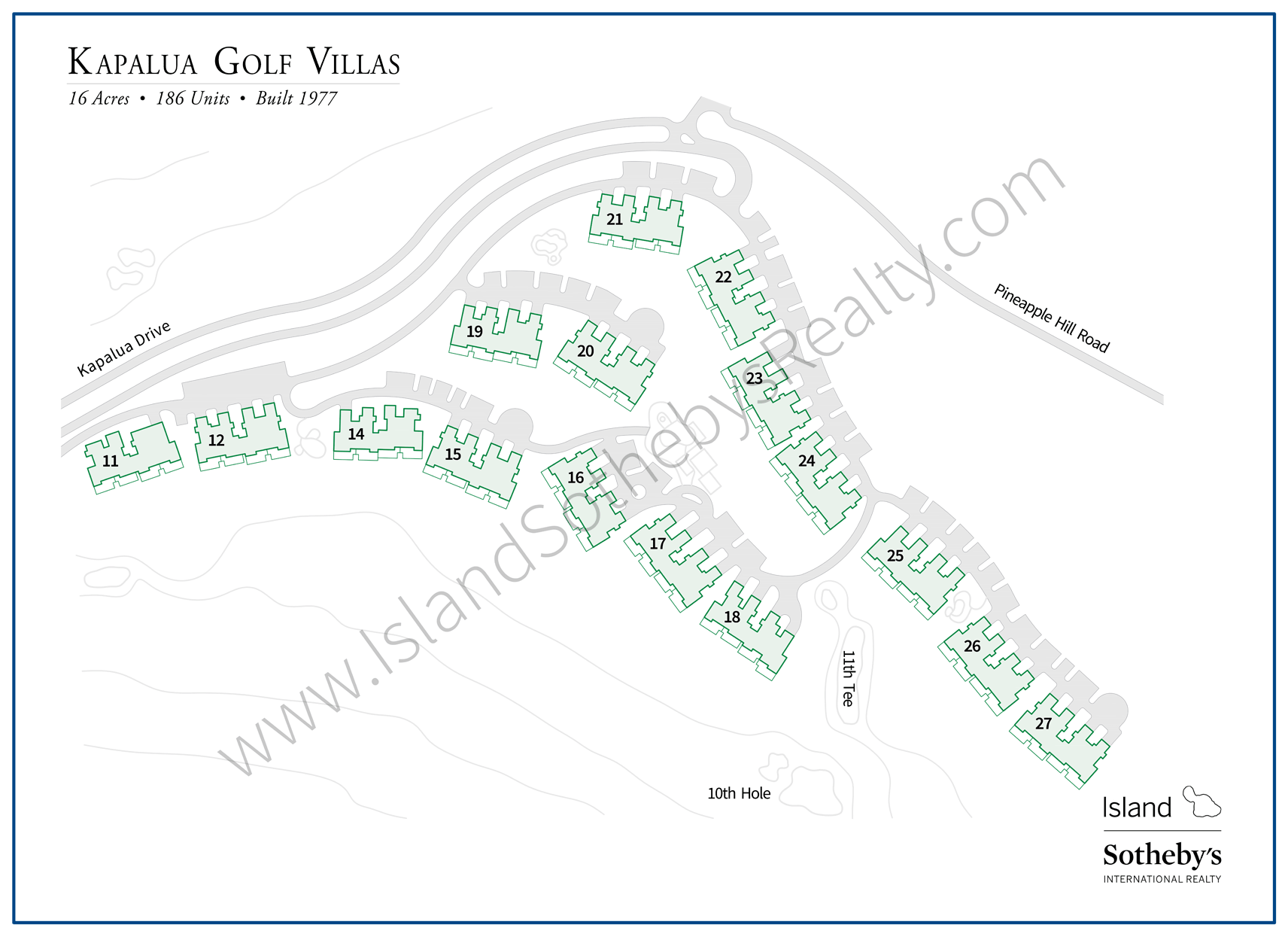 Map of Kapalua Bay Villas Maui