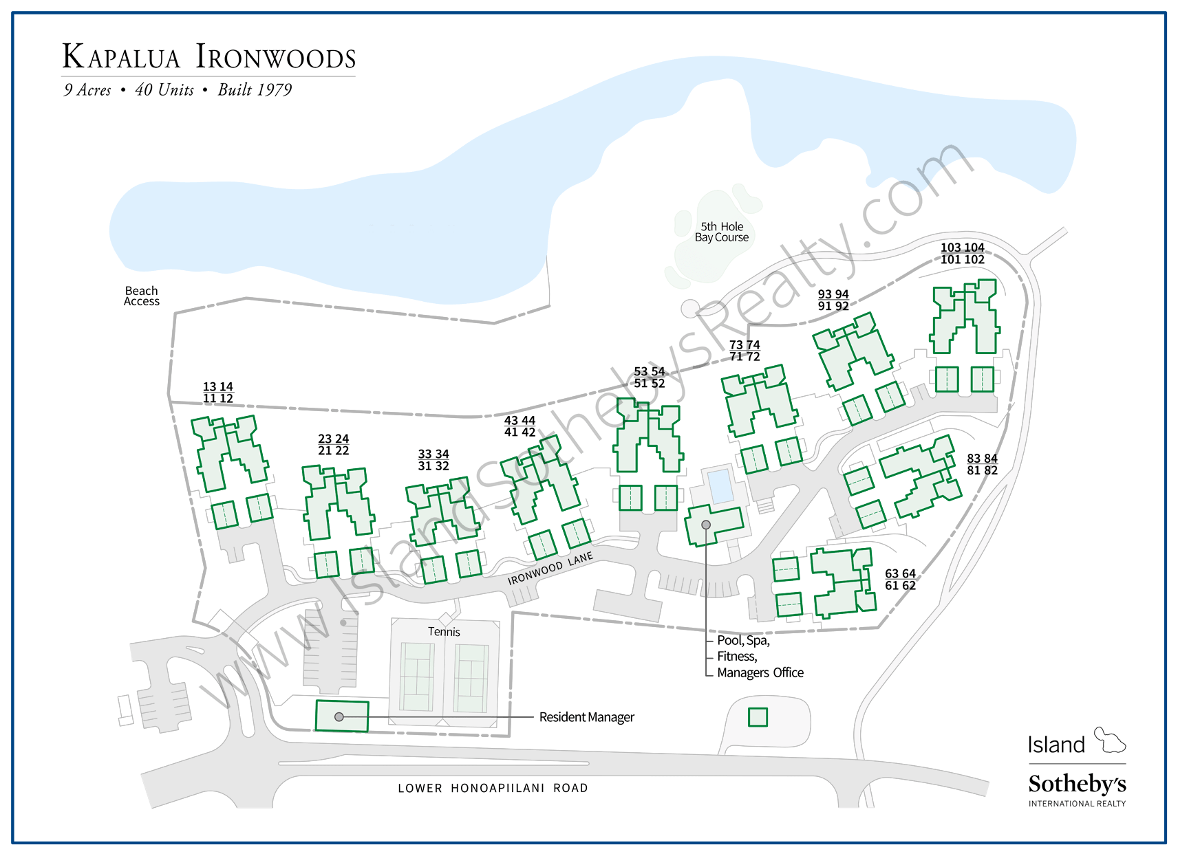 Map of Kapalua Ironwoods Maui
