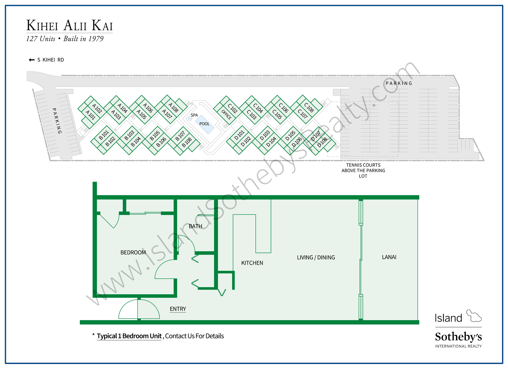 Map of Kihei Alii Kai Condominium Maui