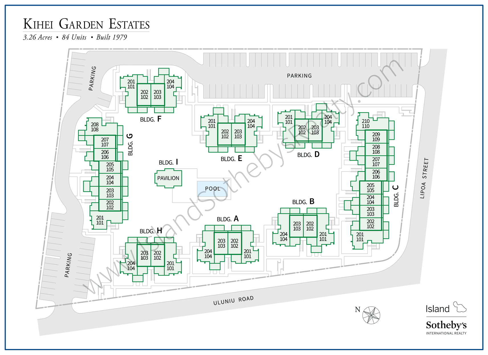 Map of Kihei Garden Estates Maui