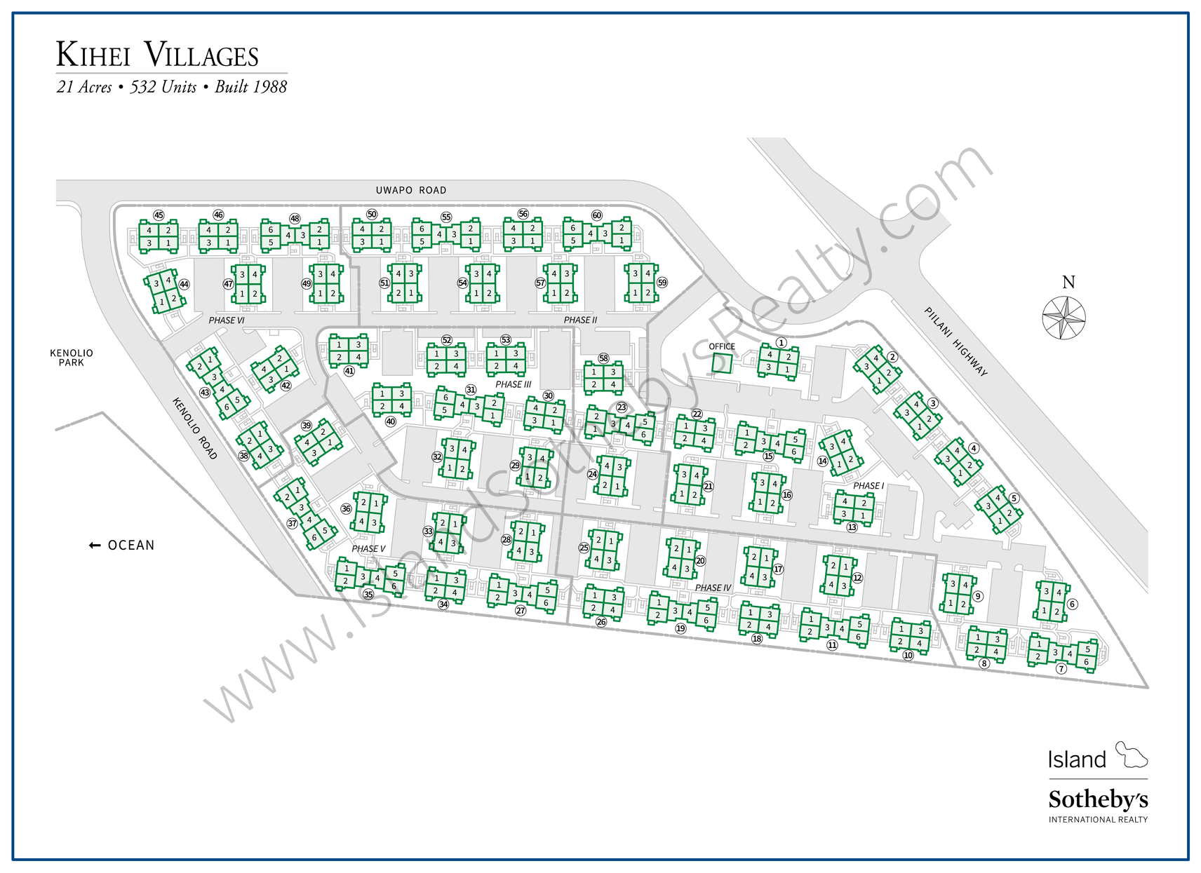 Map of Kihei Villages Condominium Maui