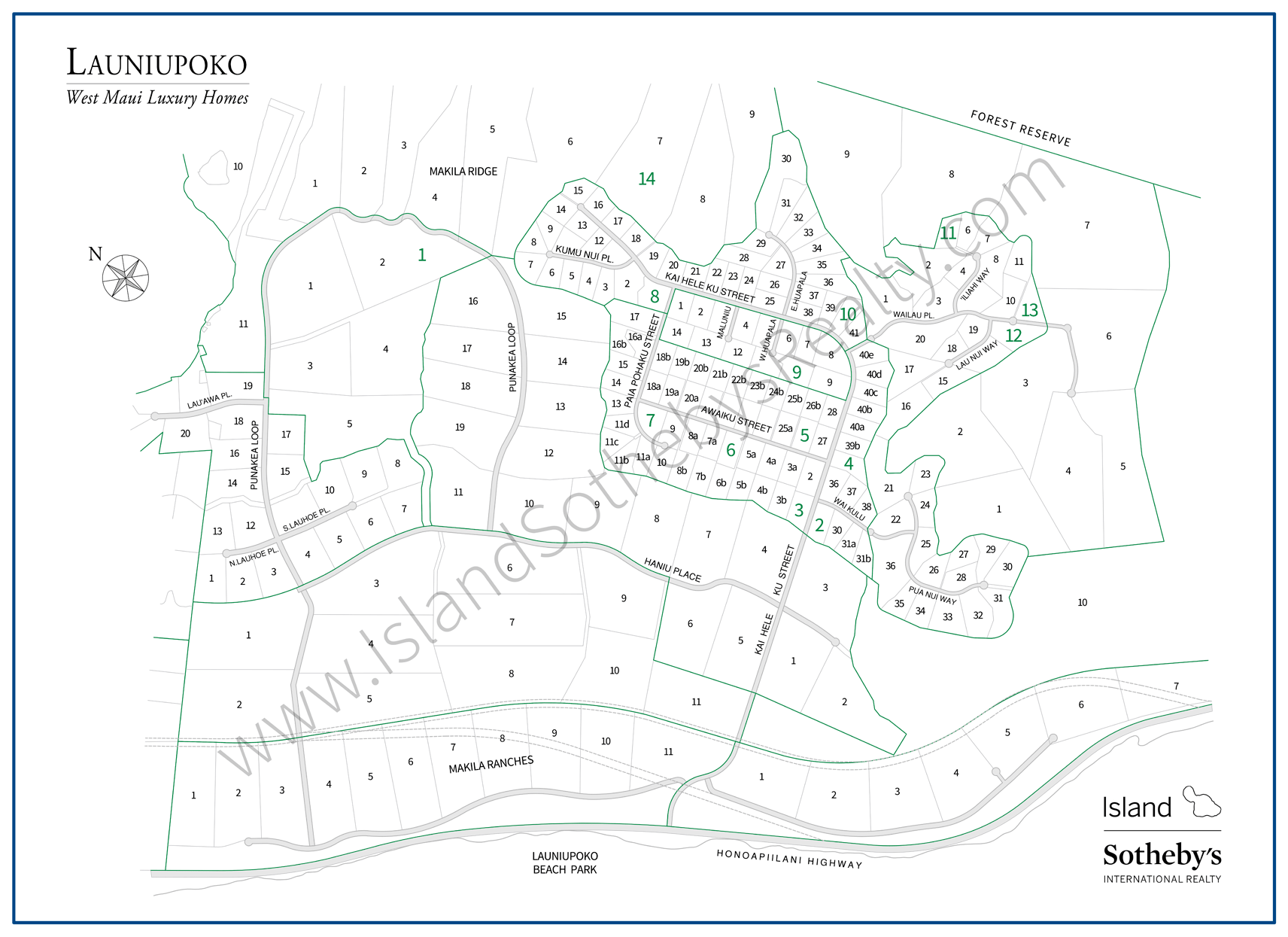 Map of Launiupoko Maui