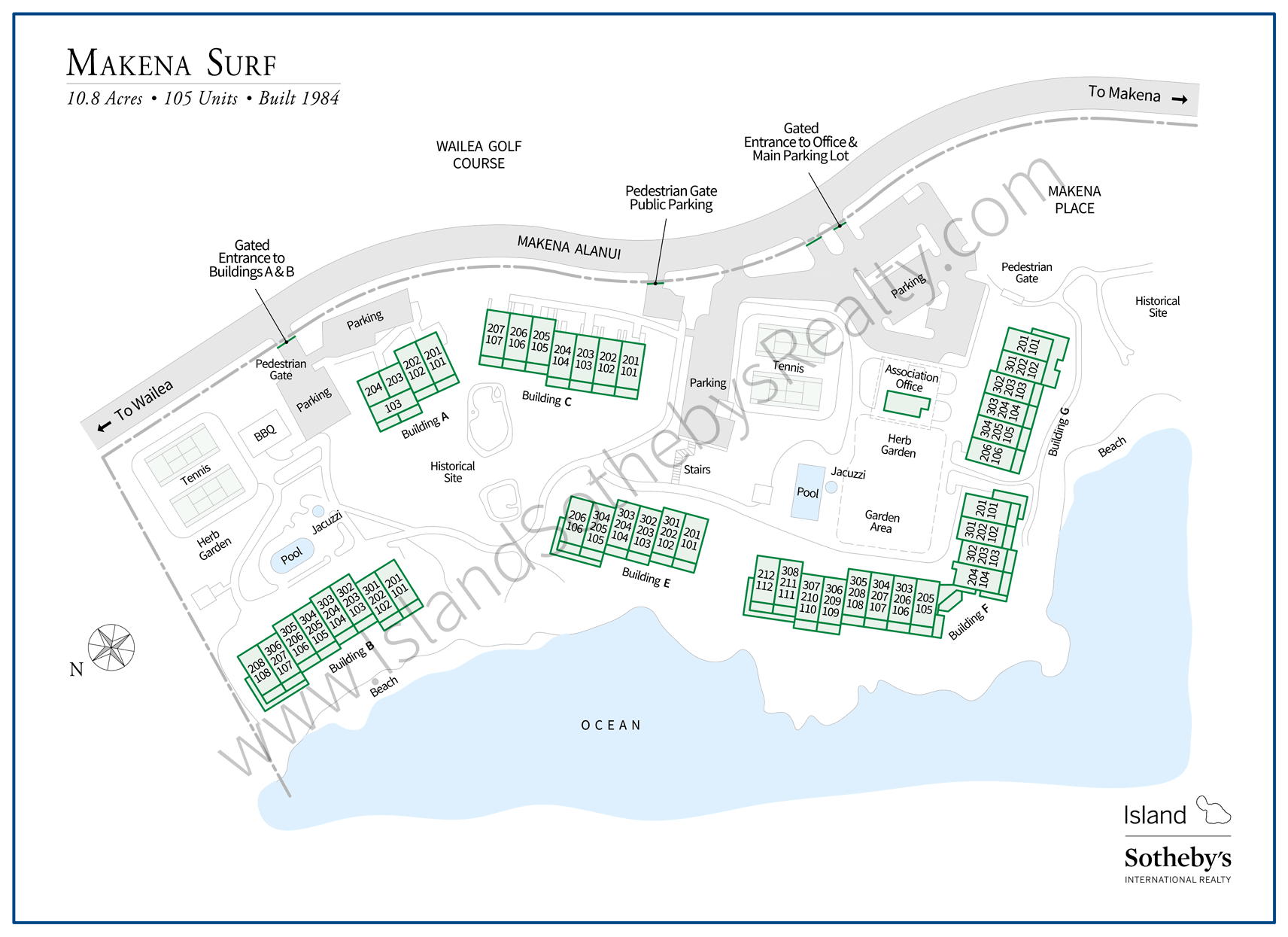 Map of Makena Surf Maui