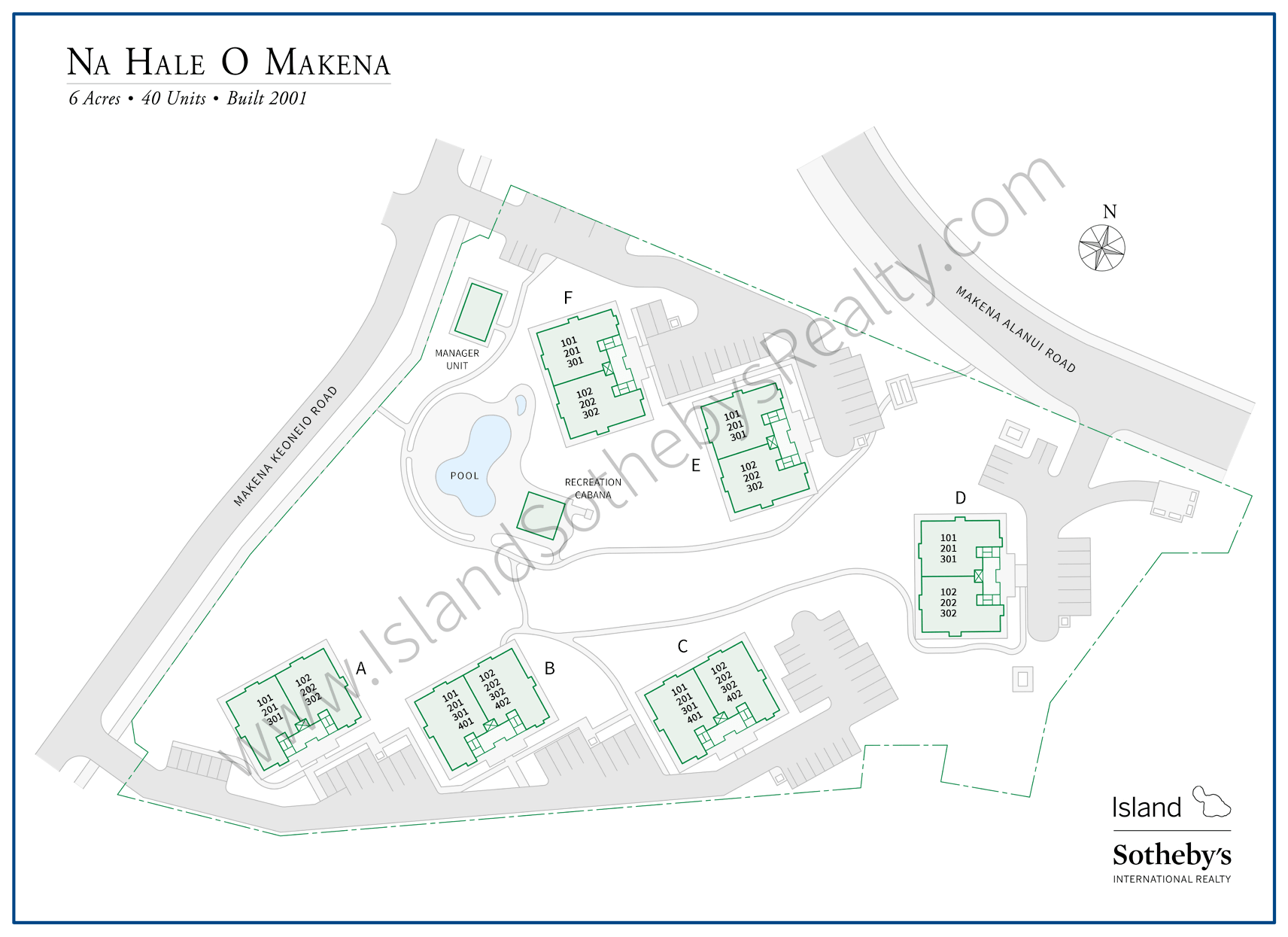 Map of Na Hale O Makena Maui