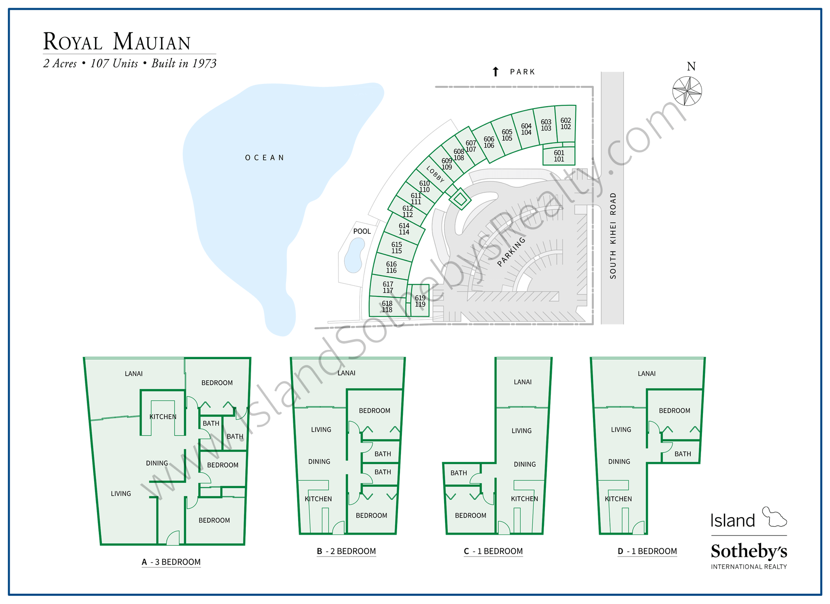 Map of Royal Mauian Kihei