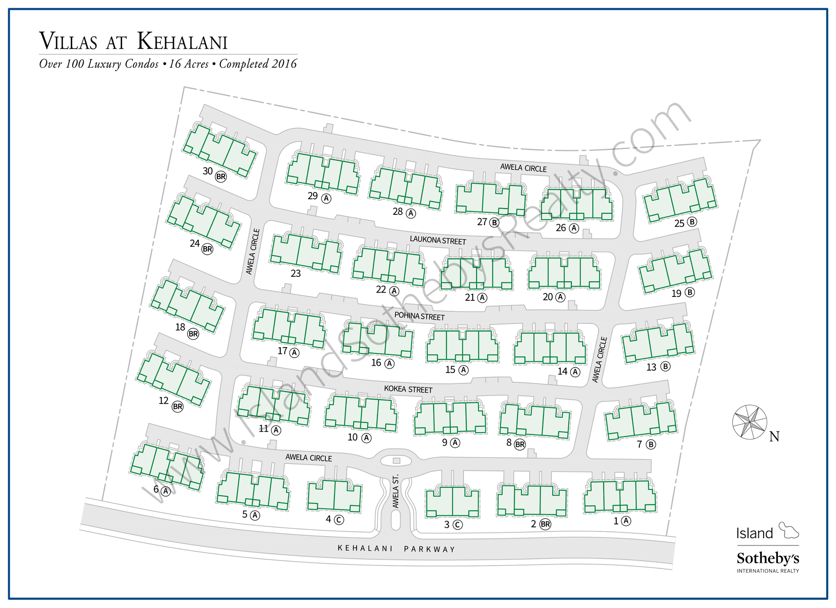 Map of Villas at Kehalani Waiuluku