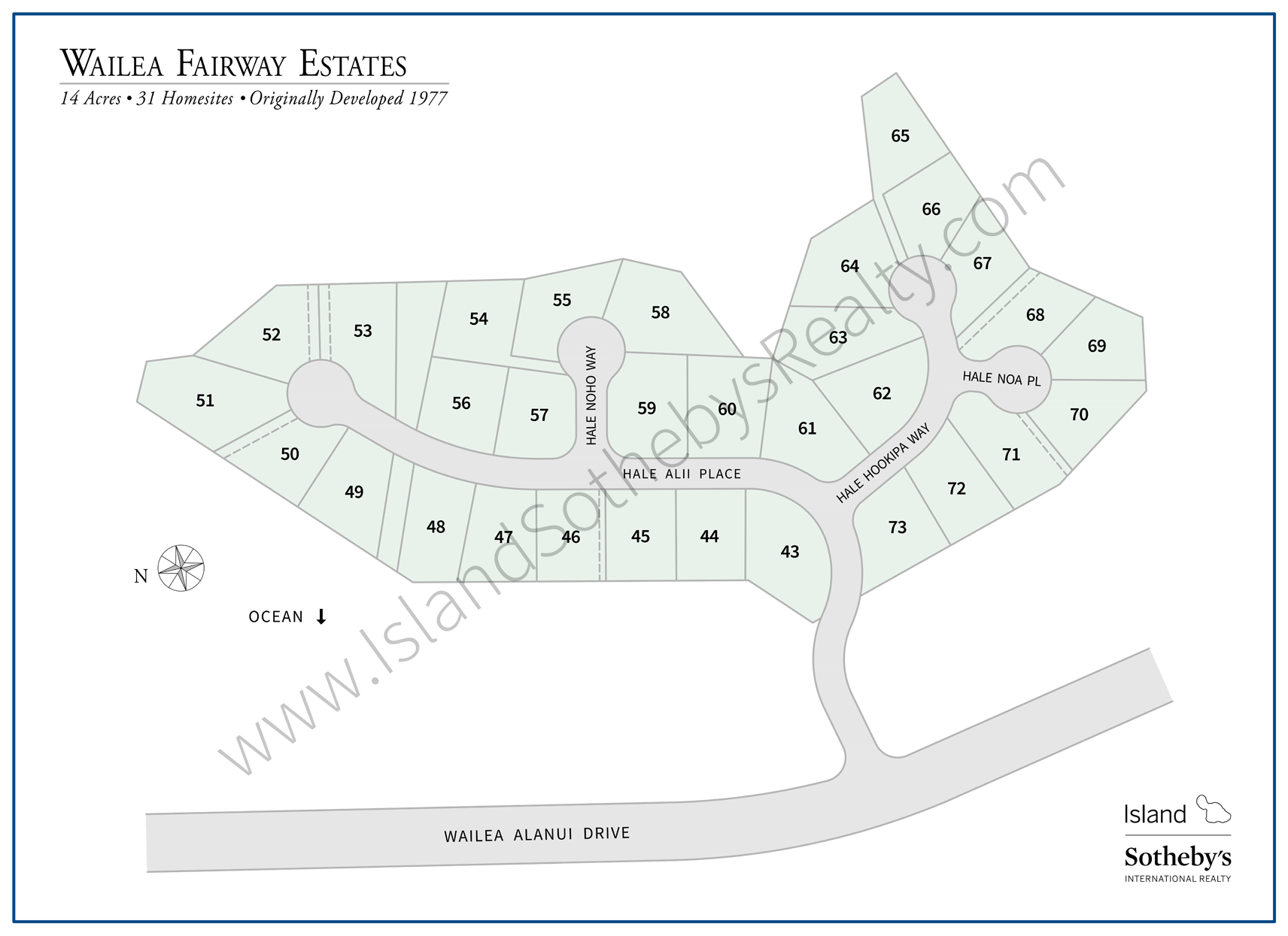 Map of Wailea Fairway Estates Maui