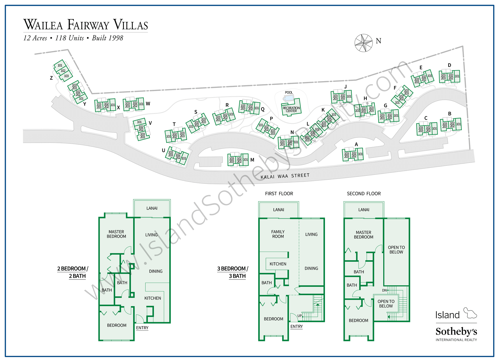 Map of Wailea Fairway Villas Maui