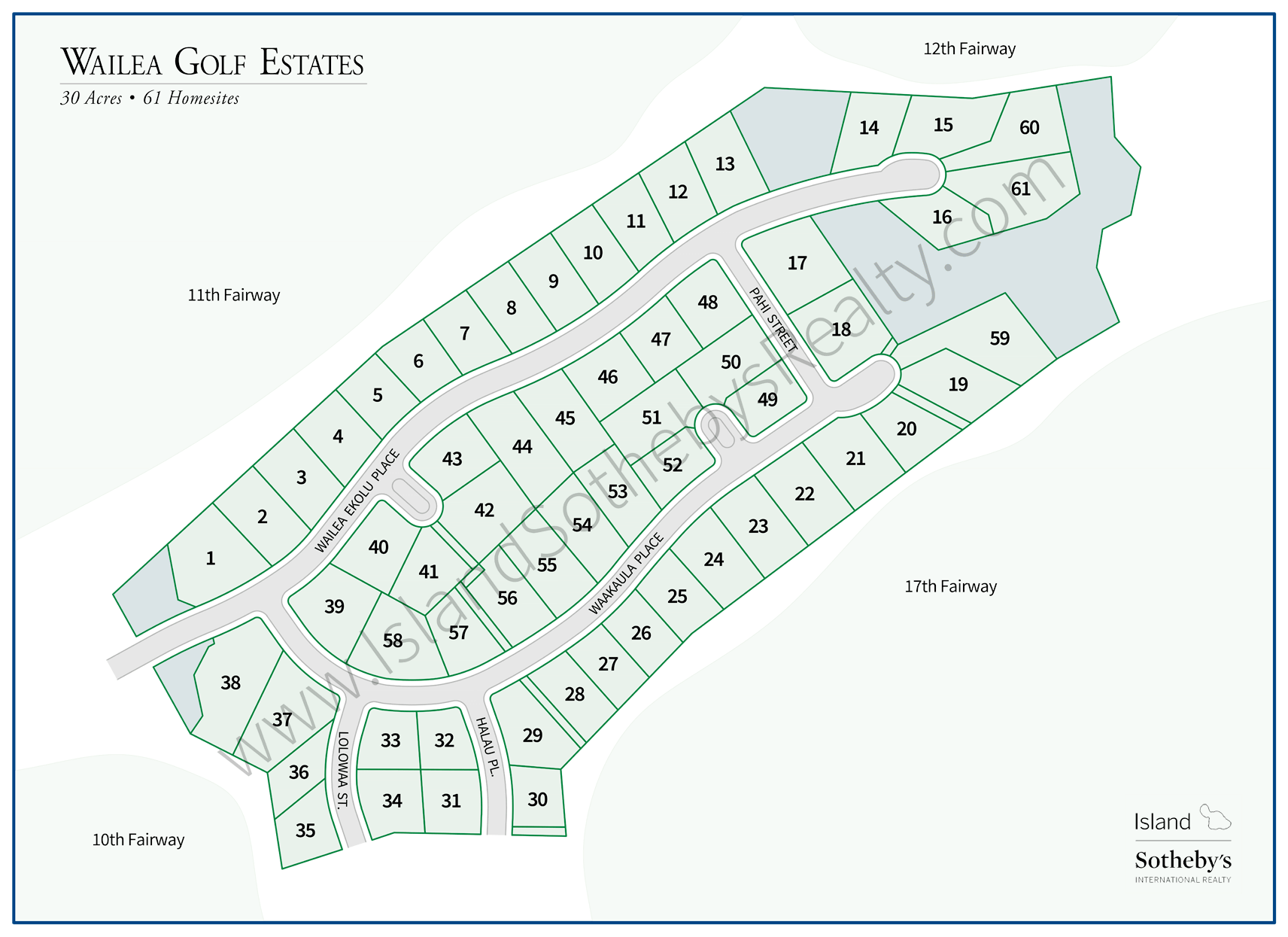 Map of Wailea Golf Estates Maui