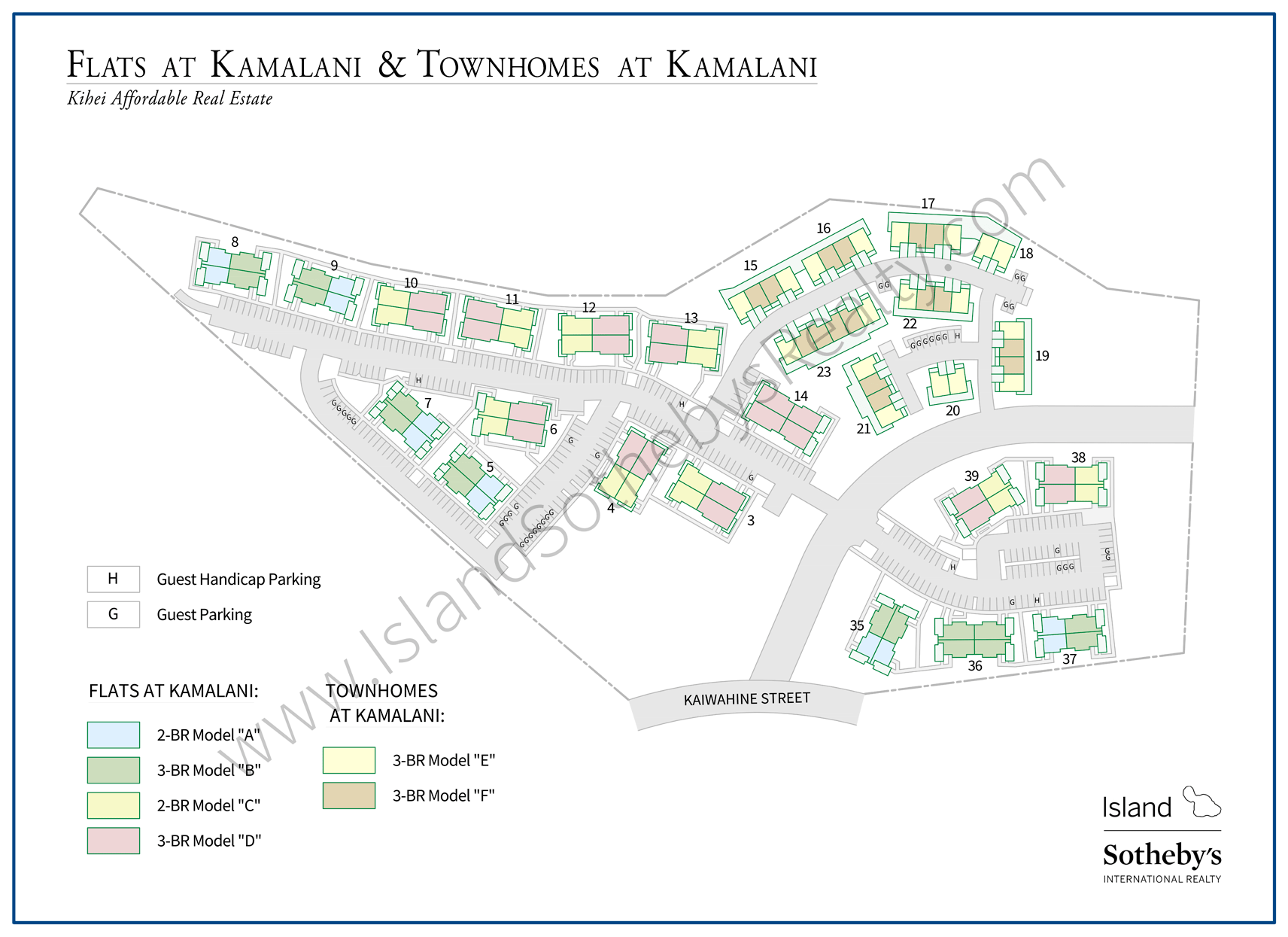 Map of Kamalani Condominium Kihei